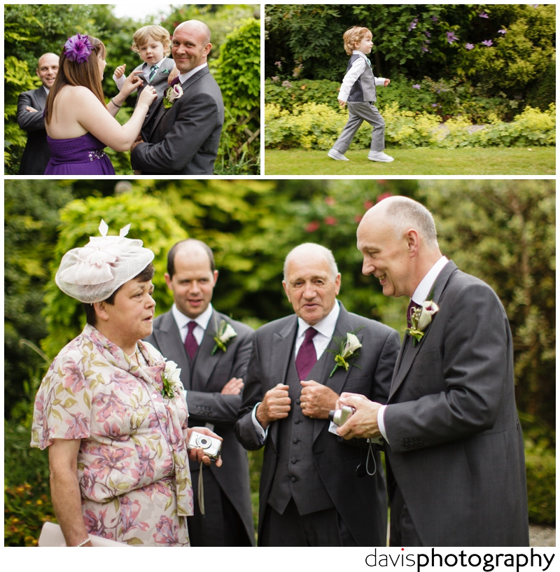 relaxed wedding photo