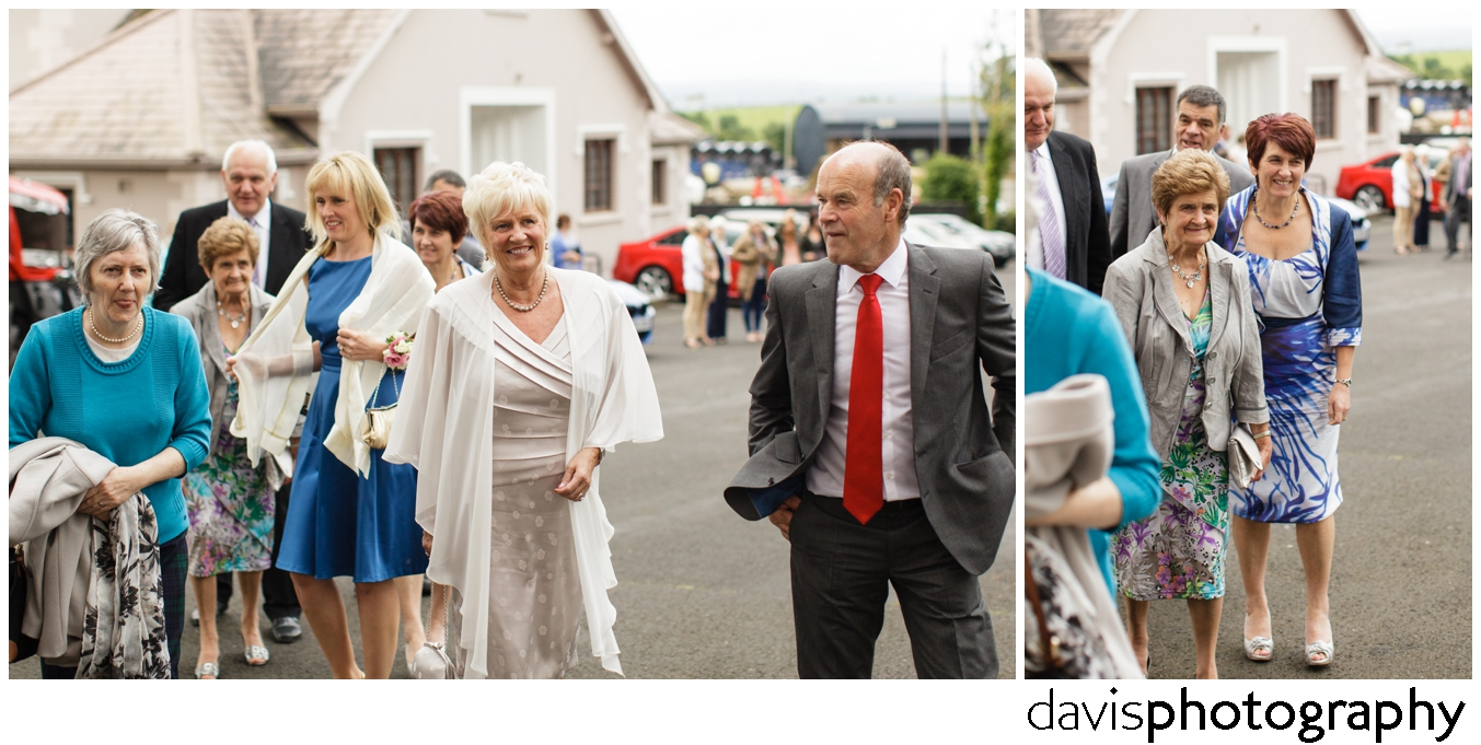 guests arrive for wedding