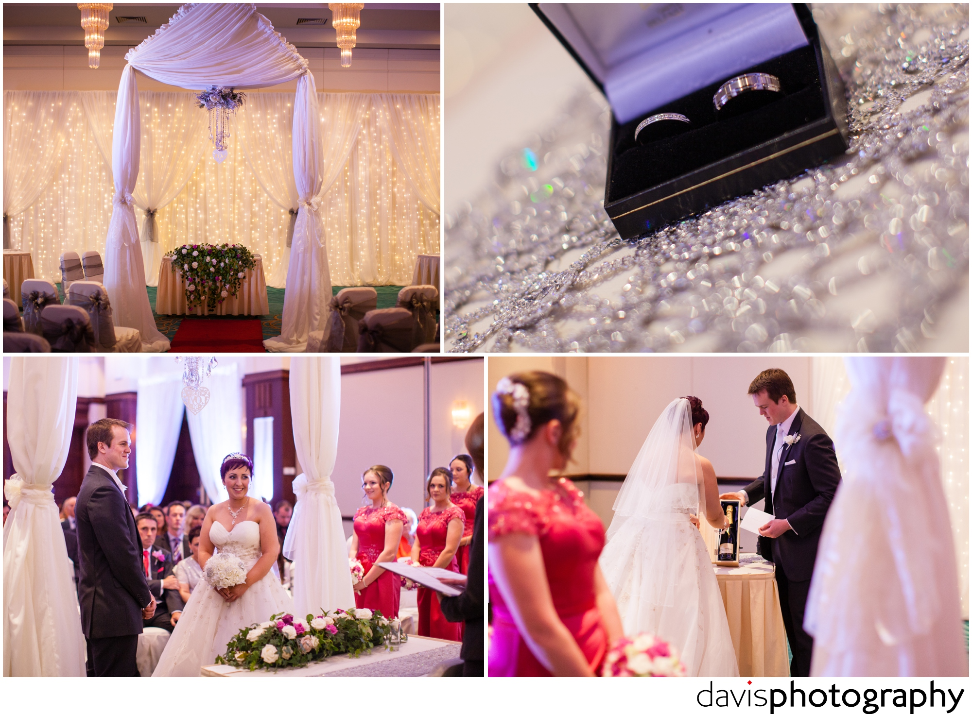 a civil wedding ceremony at roe park resort