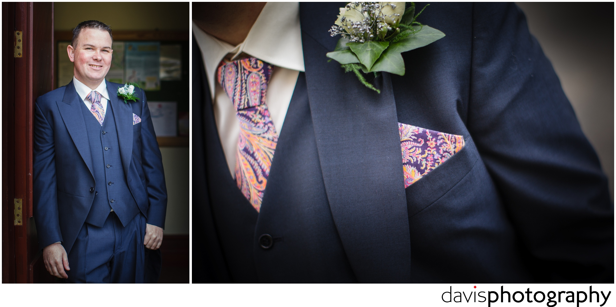 grooms pocket hanky with matching tie