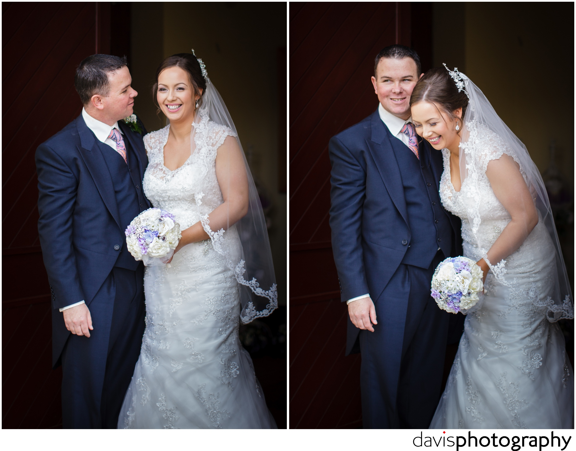 bride bursts into a fit of laughter