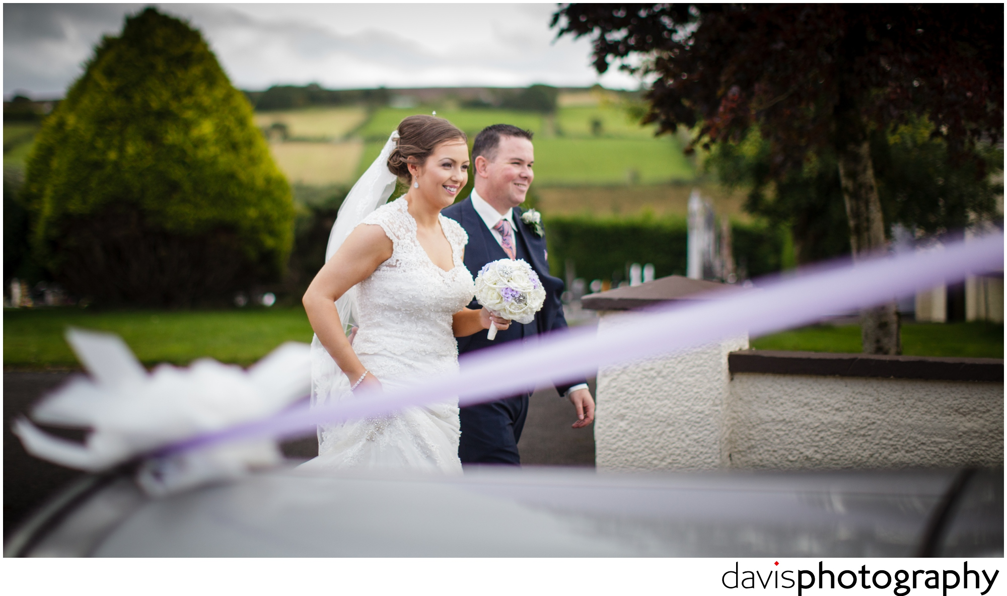bride and groom photographed unawares