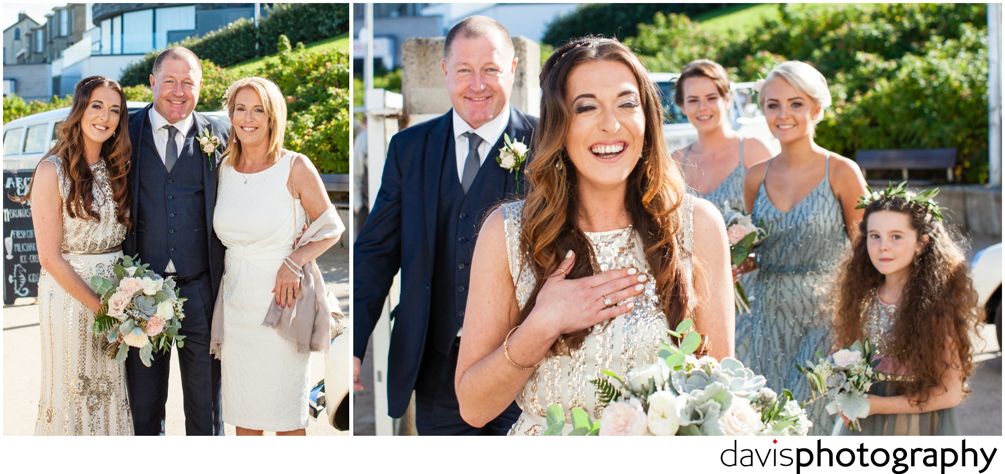 bride shares a laugh before marraige