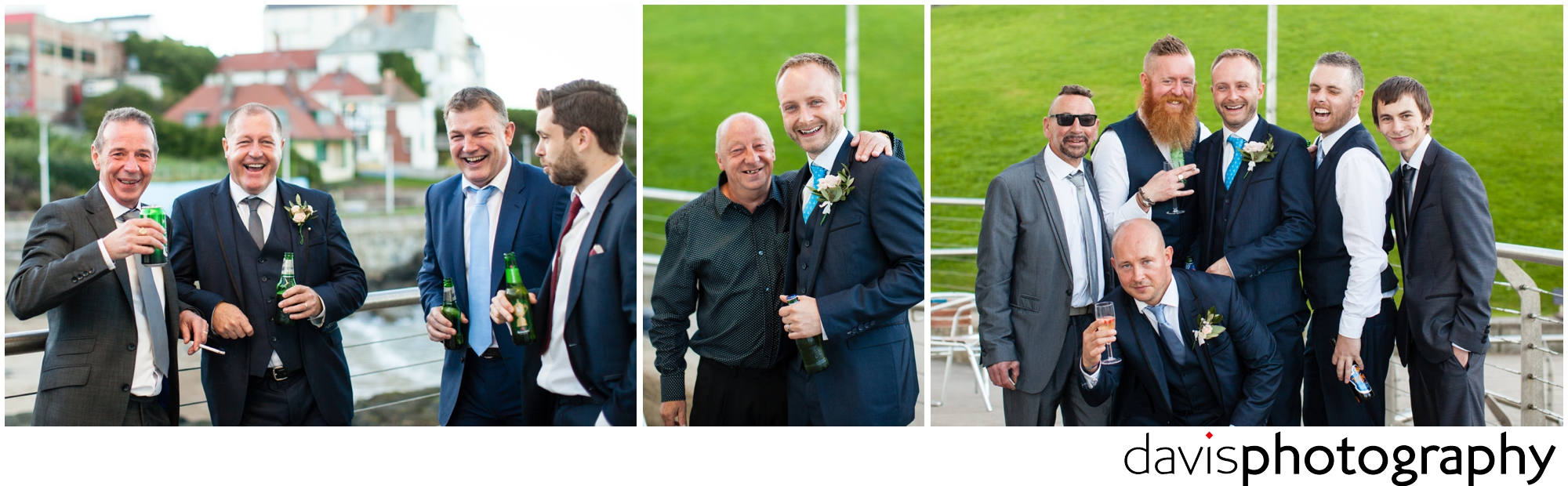 groom with guys having a laugh