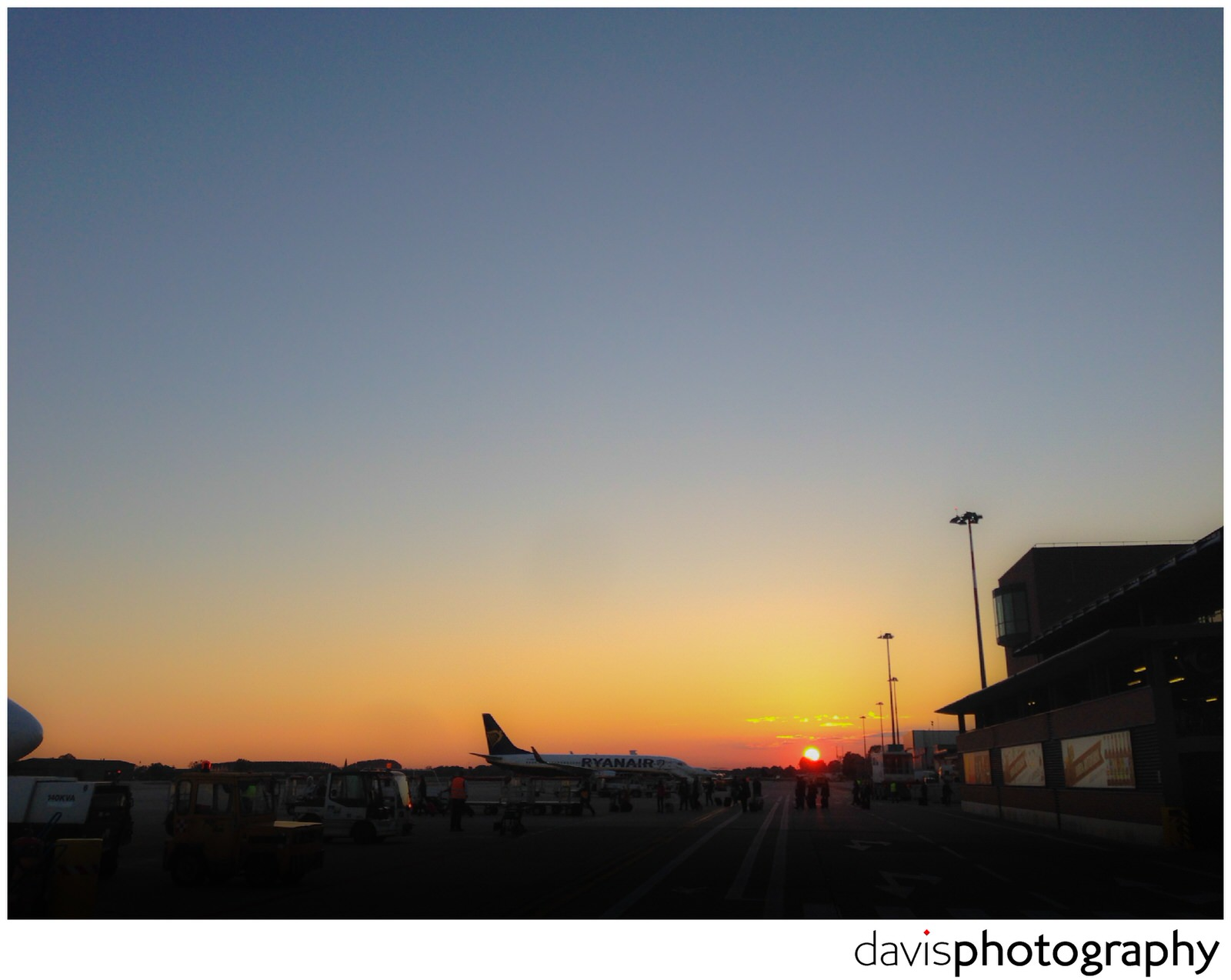 sunset at marco polo airport