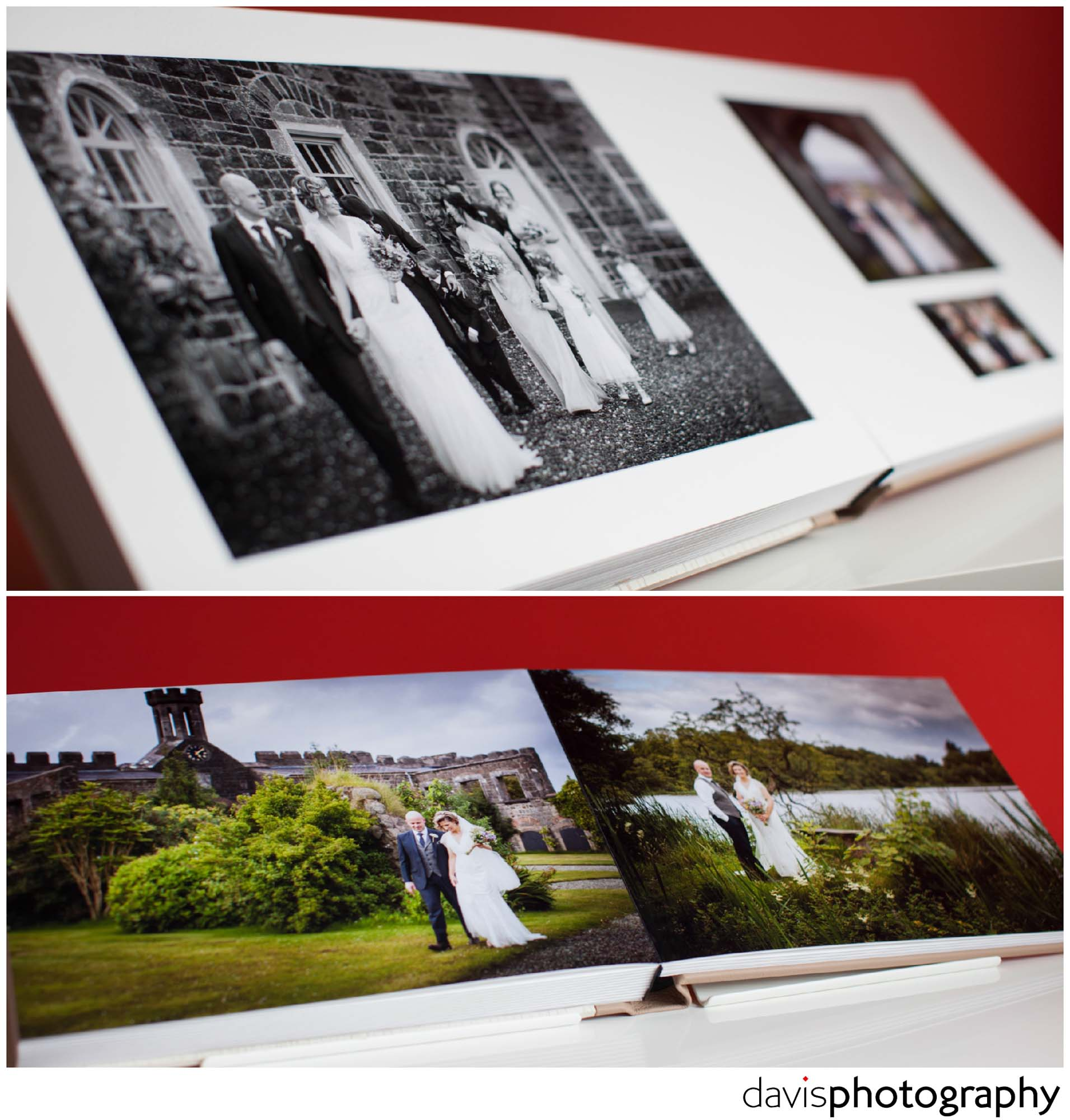 White tintoretto beveled mount surrounds the HD glossy paper prints with a white core giving a seamless look.