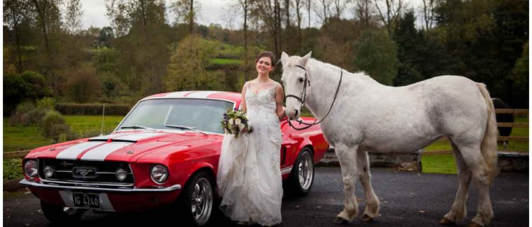 a bride who loves horses