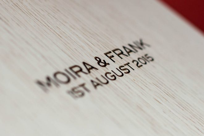 laser engraved wedding album