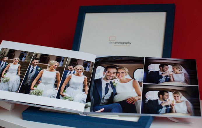 wedding book with case